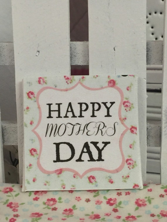 """Happy Mothers Day Art-2""""x2"""" canvas"""