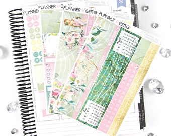 Enchanted July Monthly View Planner Kit | ~200 Stickers | Planner Stickers | For Erin Condren LifePlanner
