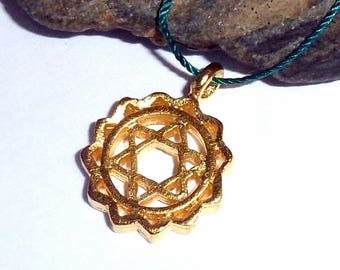 Heart Chakra Vermeil Necklace earthegy #2290