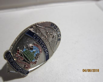 "CONCORD NEW HEMPSHIRE  Police  1"" miniature  Badge Lapel  Pin Tie Tac"