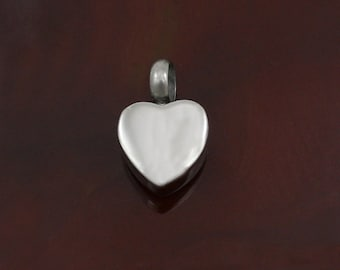 Small Heart Urn Charm | Cremation Jewelry