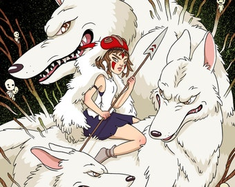 A4 Princess Mononoke Print [Studio Ghibli]