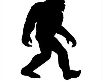 Bigfoot Yeti Sasquatch Car Truck Wall Decal/Sticker - Die Cut No Background - Many Colors & Sizes