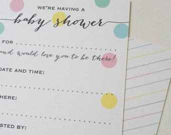 Baby Shower Invitations - Pack of 12