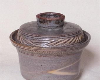 Mishima lidded bowl