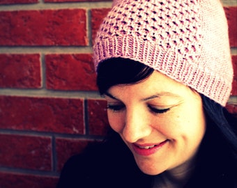 HONEY TOQUE  Classic Cabled Honeycomb Hat  Toddlers to Adults Knitting Pattern PDF