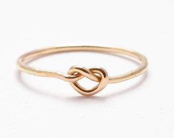 Gold Knot Ring: 14K Yellow Gold Filled, Gifts for Teenage Girls