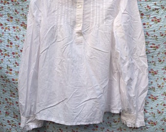 Vintage high neck blouse by Laura Asley