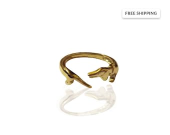 SALE!!! 15% Off / Dachshund Ring  / Gold Ring Dog / Sausage Dog Gold Ring / 14K Gold / 18K Gold / Weiner Dog Ring / Doxie Ring/Made to order