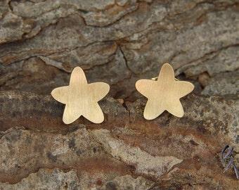 Earrings gold 750 /-, Daisy