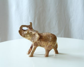 Bohemian Decor: Vintage Brass Elephant Sculpture