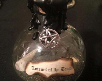Totems of the Temple Spell Bottle
