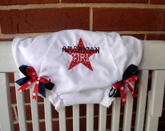 American Girl Red & Navy Star Bloomers