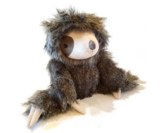 Sloth Toy Sewing Pattern   Stuffed Animal Pattern   Two-toed sloth PDF instant download   Three-toed sloth   Tutorial   How to make a sloth
