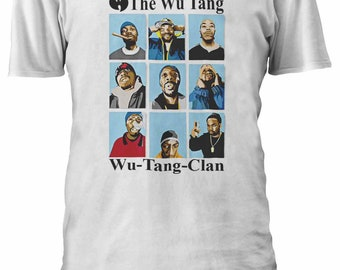 The Wu Tang Wu-Tang-Clan East Coast Rappers Hip Hop T-shirt Men Women Ladies Tshirt Unisex 13