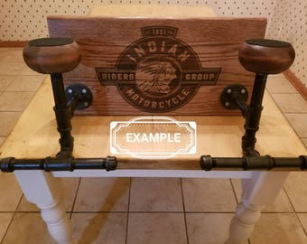Customizable Two Up Motorcycle Gear Rack
