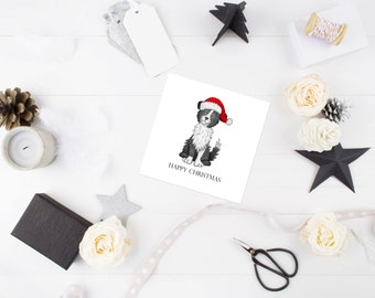 Border Collie Dog Christmas Card - border collie - Dog christmas card - Christmas cards - sheepdog card - ideal gift for dog lovers