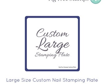Large Square Personalised Nail Art Stamp Plates, Custom Engraved Nail Stamping Plates, Design Your Own