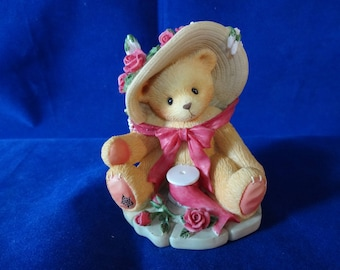 """Cherished Teddies Janet Avon Exclusive """"Your sweet As A Rose"""" # 336521 Mint"""