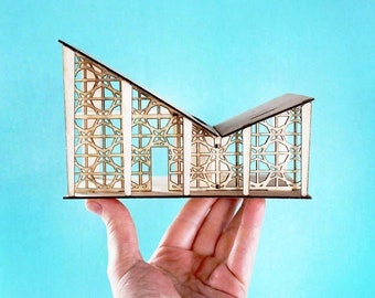 The Mini Butterfly House - An original miniature model w/ mini furniture!  1:48 scale or quarter scale