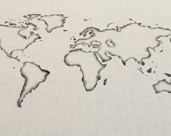 World Map Wall Tapestry Outline : Choose your Color
