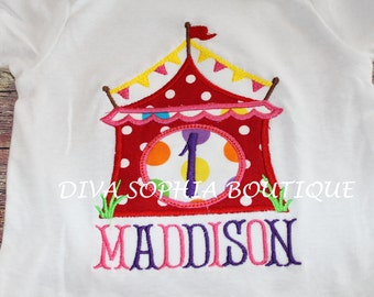 Circus Birthday Personalized Boysuit - T-shirt