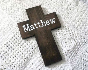 Personalized Name Cross | Baptism Cross | Easter Gifts | Wood Cross | Cross Decor | Christian Wall Art | Name Cross | Gallery Wall
