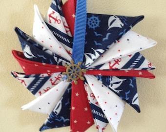 Nautical Pinwheel Ornament