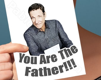 funny fathers day, maury povich card, you are the farter, funny greeting card, funny dad card, fathers day card, card for dad, greeting card