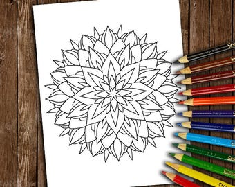 Mandala (Coloring Books, Coloring Pages, Adult Coloring Books, Adult Coloring Pages)