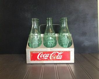 Vintage Coca Cola Carrier Aluminum Coke Caddy Vintage Coke Bottles