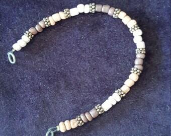 Wood Bead Bracelet, Shades of Brown
