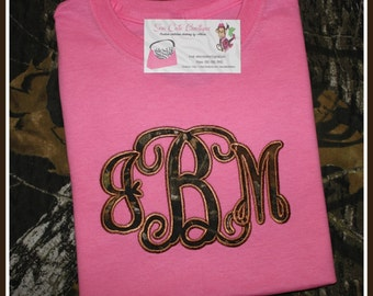 Camo Monogrammed Shirt.. Youth and Adult Short Sleeve! Girl's Hunt TOO!