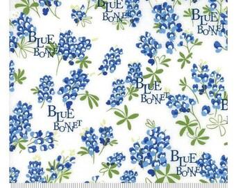 Floral Bluebonnet Natural, Wildflowers - Moda Cotton Fabric
