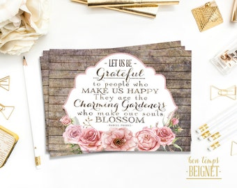 """Gratitude Quote - INSTANT DOWNLOAD - 5x3.5"""" 7x5"""", and 10x8""""- Inspirational Quote Charming Gardeners - Marcel Proust"""