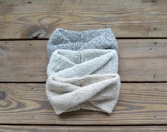 Knit Headband, Toddler Hats for Girls, Winter Headband, Gifts for Women, Twisted Turban, Ear warmer, Knit Earwarmer