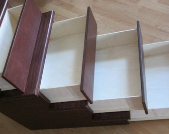 """Pet Stairs w/ Drawers for hidden storage, 24"""" tall, Unassembled"""