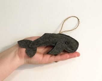 Felt Sperm Whale Christmas Tree Ornament