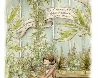 Grow Where You Are Scripture Art Print