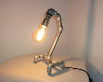 Table lamp IDUS TRIAL industry pipe lamp pipe designer lamp steampunk LOFT unique unique desk lamp night table lamp