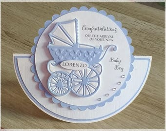 New Baby Shaped Card-Baby Girl Baby Boy