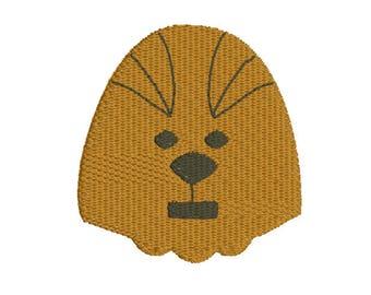 mini fill stitch space beast embroidery design file