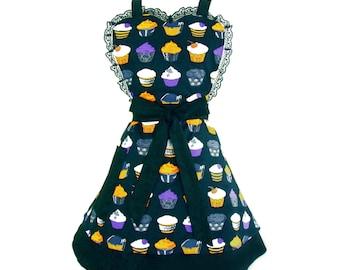 Gothic Cupcakes 2 Tier Apron
