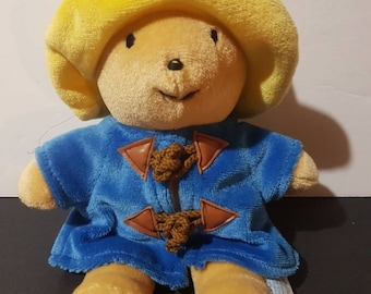 "terrycloth Paddington Bear by eden toys 6"" plush bear"