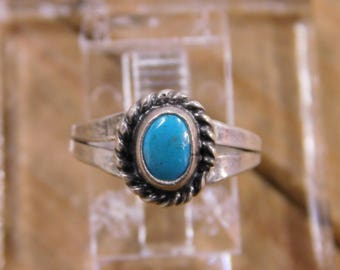 Sterling Silver Turquoise Ring Size 4.5