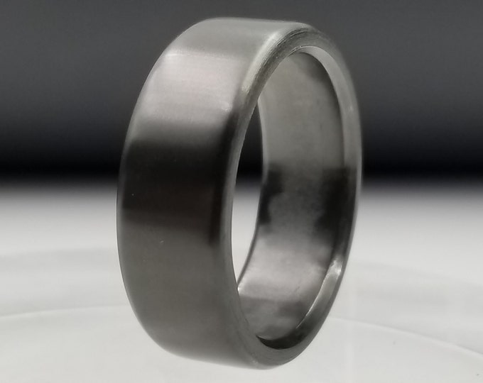 Black Zirconium Ring - Wedding Band, Black Ring