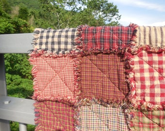 Farmhouse Red Rag Quilt!!!!  Made To Order !!! Twin To King Size!!!