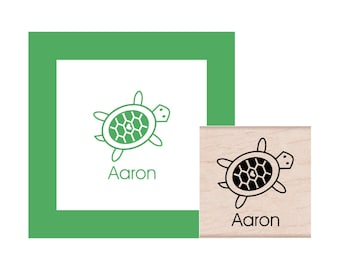 Turtle personalized Rubber Stamp