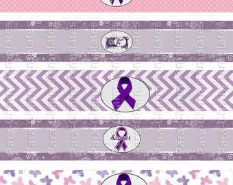 Pancreatic-Cancer - DIY Water Bottle Labels- 8.5x11-inch jpg files