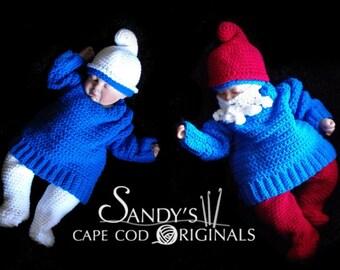 Little Gnome, and Papa Gnome set Crochet Pattern PDF 622